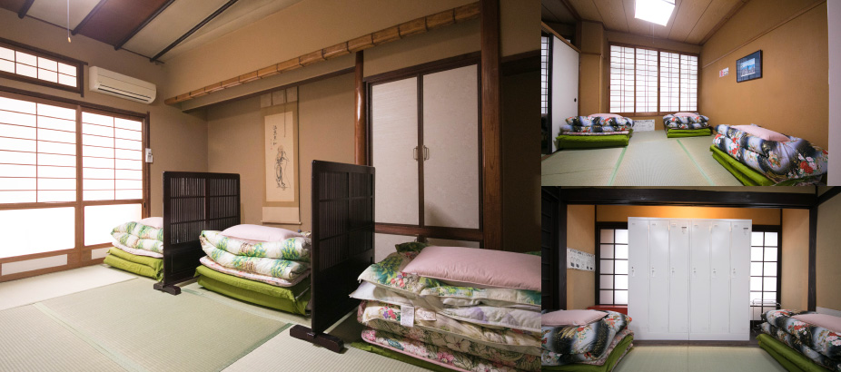 Private Rooms and Shared Dormitories with Futon