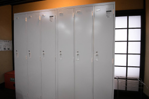 Personal Lockers in the room for every Guest